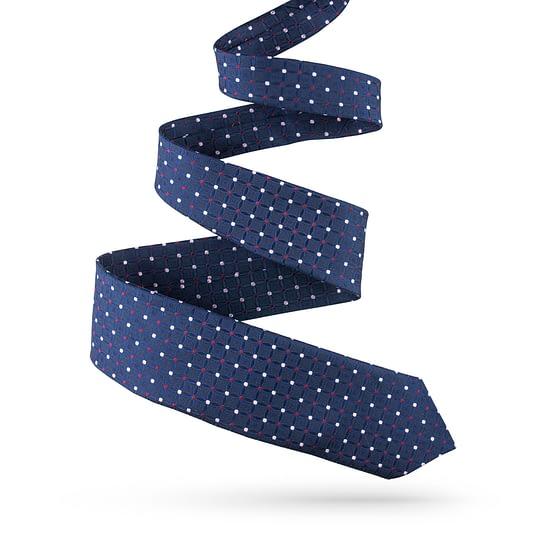 Krawat jedwabny ze wzorem