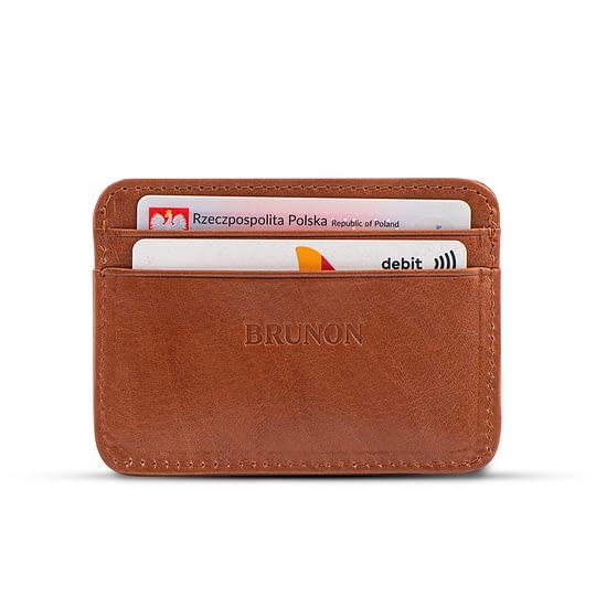 portfelik na karty jasnobrązowy