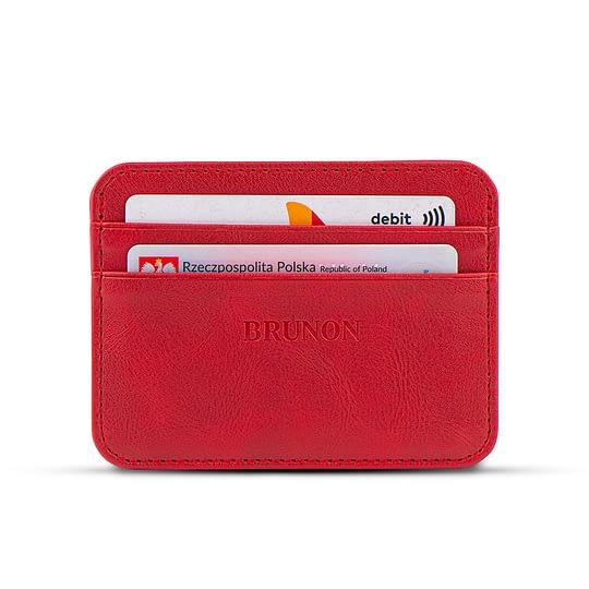 Czerwony portfelik na karty damski Czerwony portfelik na karty damski
