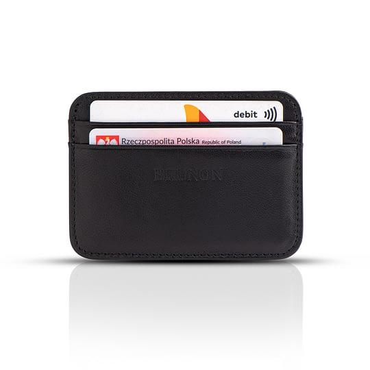 skórzany Portfel cienki na karty i banknoty czarny ze skóry sklep