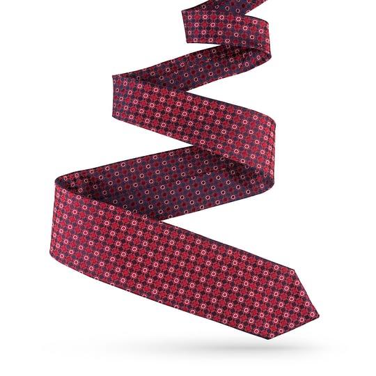 Krawat jedwabny czerwony