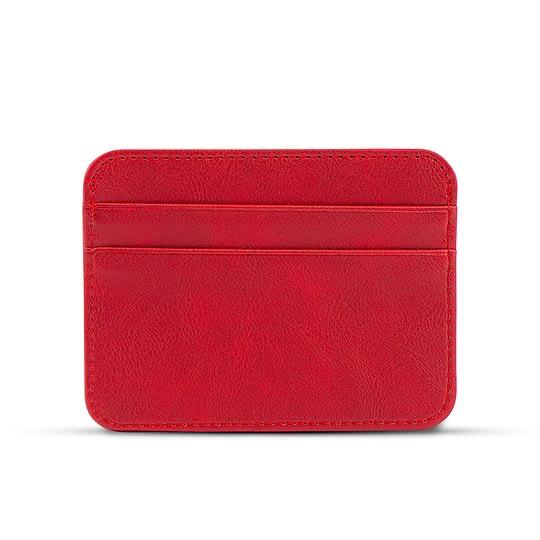 Czerwony portfelik na karty damski