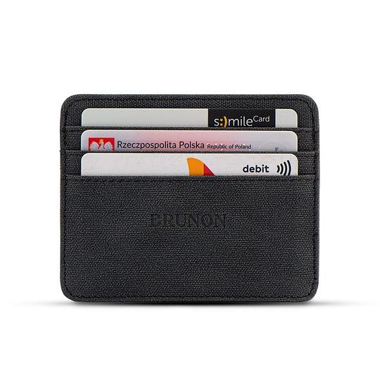Cienki portfel na karty wegański czarny sklep